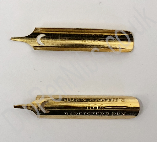 Barristers Nib top and bottom